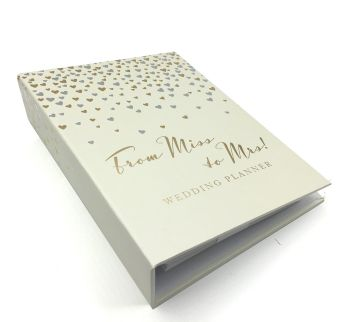 From Miss To Mrs Gold Silver Heart Wedding Planner Organiser Boxed