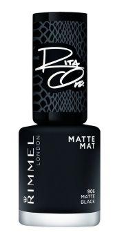 Rimmel Rita Ora Matte Nail Polish - 906 Matte Black