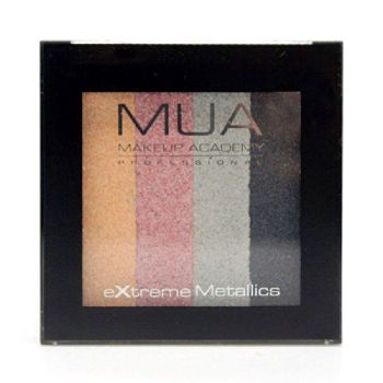 MUA Professional Make-Up Extreme Metallic Quad Eyeshadows Glammed Up