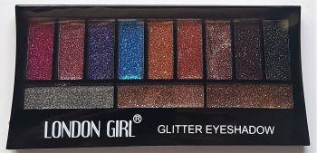 NEW Glitter Eye Shadow Palettes 12 Colours by London Girl - Glitter Eye Makeup