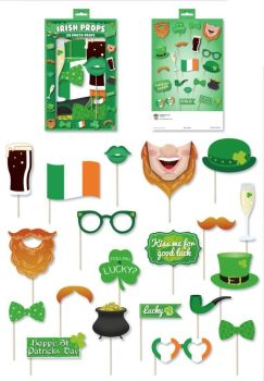 Henbrandt St Patrick's Day Irish Party Photo Booth Props Accessories - 20 Pieces