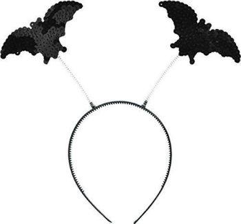 Girls Fancy Dress Halloween Party Accessory Flying Bat Boppers Headband Uk