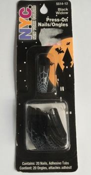 NYC Halloween Press On Nails - Black Widow