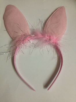 Pink Bunny Ears Headband / Aliceband
