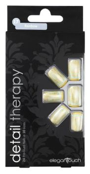 Elegant Touch Detail Therapy Rainbow Glued False Nails