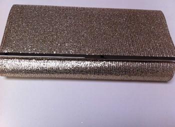 Large Gold Glitter Clutch / Evening Bag