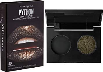 New Maybelline- Lip Studio Python Metallic Lip Makeup Kit, Treacherous