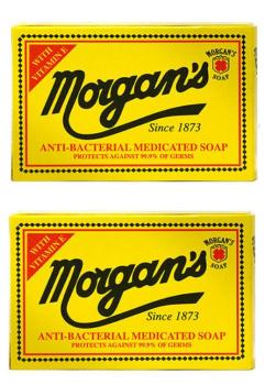 Morgan's Antibacterial Medicated Soap 80g ( Pack of 2)