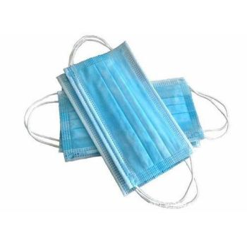 3 Ply Light Blue Disposable Face Mask - 17.5cm x 9.5cm (Pack of 6)