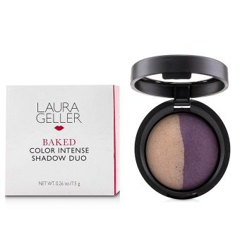 Laura Geller Baked Color Intense Shadow Duo - Slate/Plum