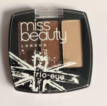 Miss Beauty Trio Eyeshadows - No.1 (2 Pack)