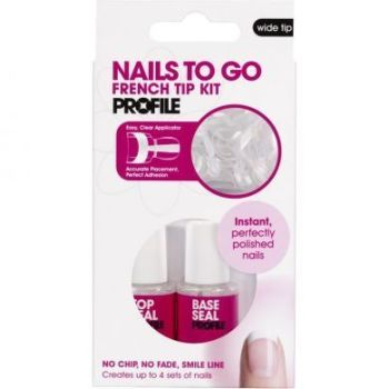 Nails To Go French Nail Tip Kit - Wide Tip