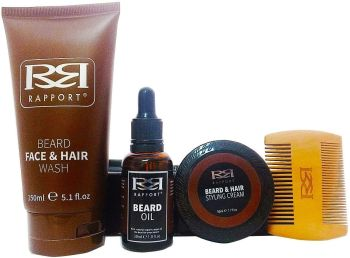 Rapport Ultimate Beard Kit - 4 Piece Beard Mens Gift Set