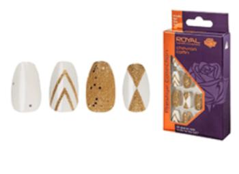 Royal Prestige Collection Glue on Nails - Chevron Coffin
