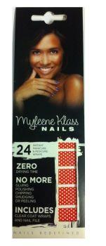 Myleene Klass Nail Wraps (2 pack) - Red & White