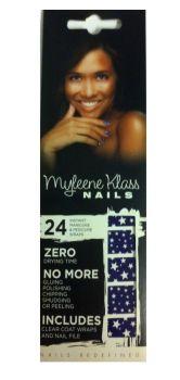 Myleene Klass Nail Wraps (2 pack) - Blue & White