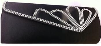 Black & Diamante Evening / Clutch Bag
