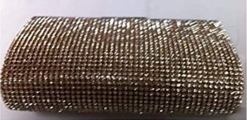 New Gold Doubled Sided Diamante Clutch Bag