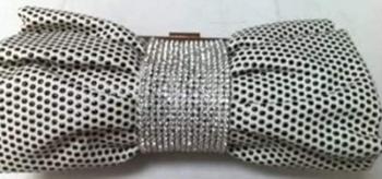 Dotty & Diamante Clutch Bag