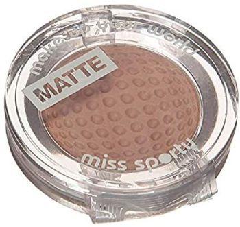 MISS SPORTY Studio Single Matte Eyeshadow Chocolate 123 (2 Pack)