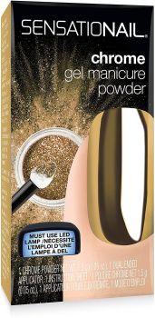 Nailene Sensationail Chrome Gel Manicure Powder - Gold