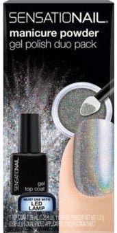 Nailene Sensationail Manicure Powder Gel Polish Duo Pack - Holographic