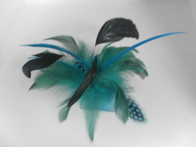 Turquoise Feather Fascinator 2c9c716a894