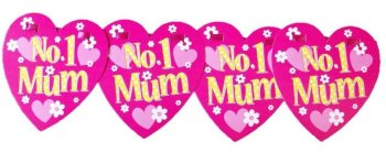 No 1 Mum Mothers Day Bunting / Banner