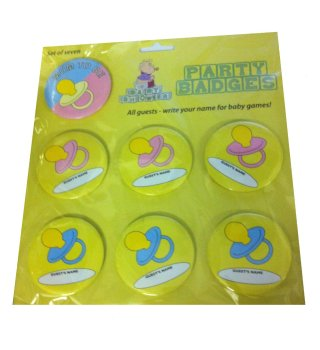 Baby Shower Party Badge Set - 7 Piece