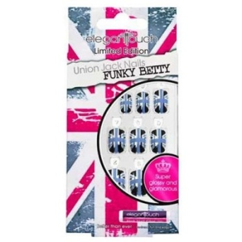 Elegant Touch Limited Edition Funky Betty Union Jack Nails