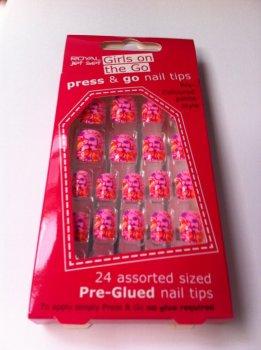 Royal Girls On The Go Press & Go Pre-Glued Nail Tips - Multi