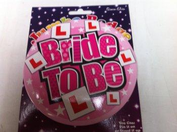 Jumbo Bride to Be Badge