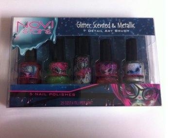 Novi Stars Glitter, Scented & Metallic Nail Polish Gift Set