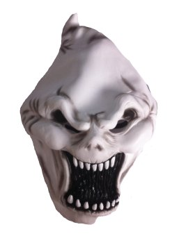 Halloween Screaming Demon PVC Full Face Mask * With Free Bloody Cleaver *