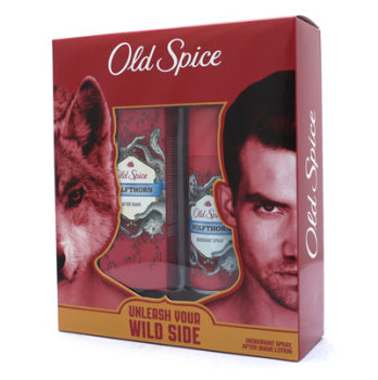 Old Spice Wolfthorn Aftershave  & Deodorant Men's Gift Set