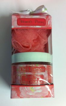 Cheri L'amour Honors Peony Body Scrub & Body Polisher Gift Set