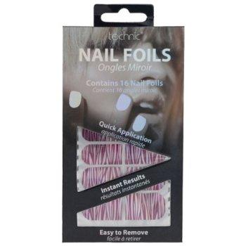 Technic Nail Foils / Wraps - Red & Silver