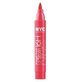 NYC Smooch Proof 16 Hour Lip Stain - Unstoppable Red