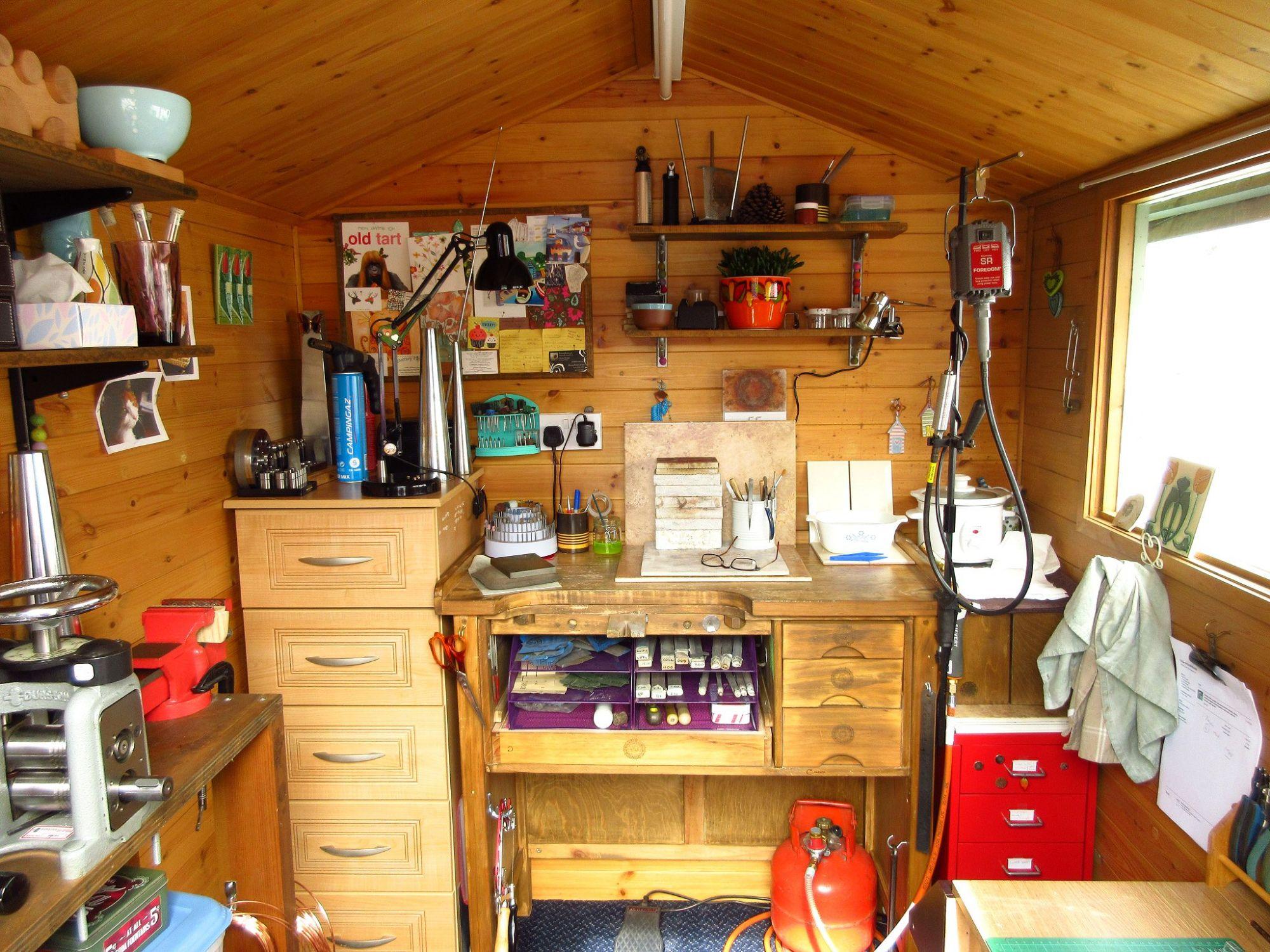 Cinnamon Jewellery work shed