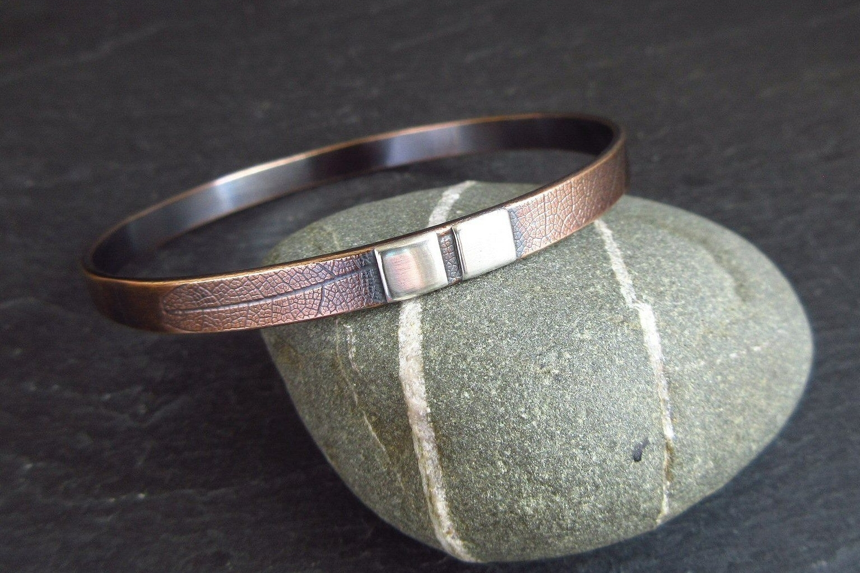 handmade bronze and silver bangle
