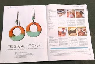 cinnamon jewellery torch enamel earrings magazine project