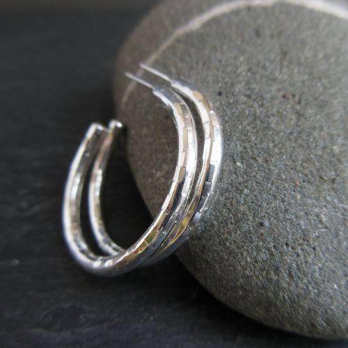 Sterling Silver Hoop Earrings with Posts
