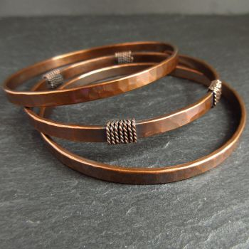 skinny filled thin buy crafted set hammered stackable nadinejewelry of gold hand by bangles