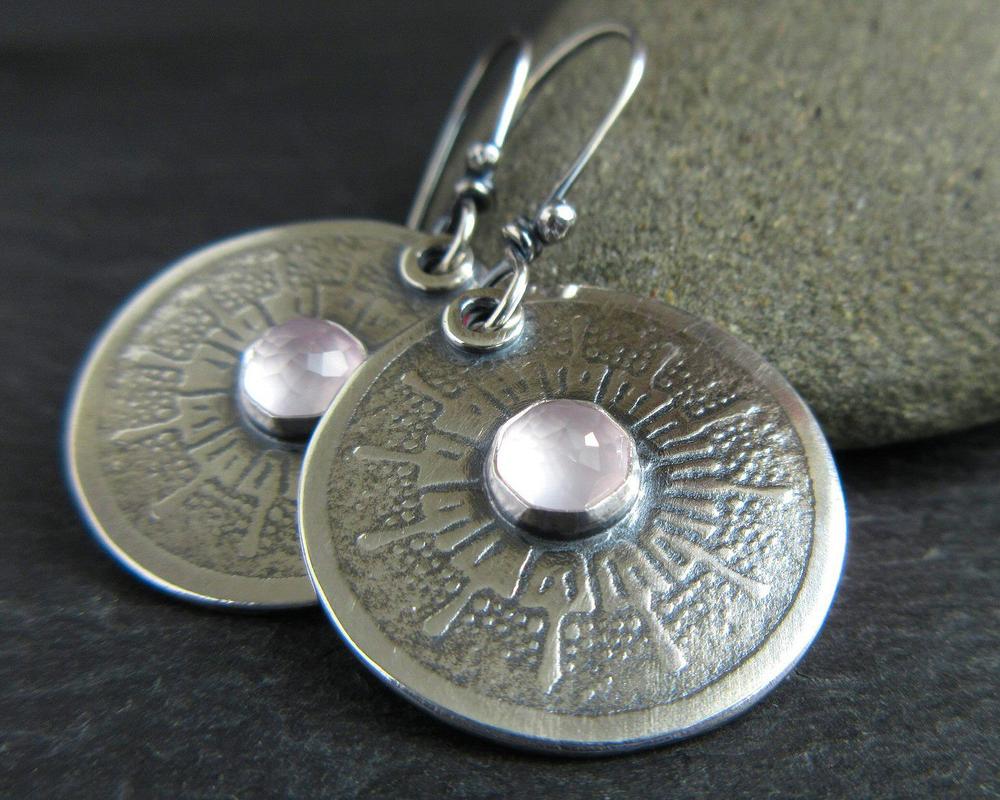 handmade sterling silver earrings cinnamon jewellery