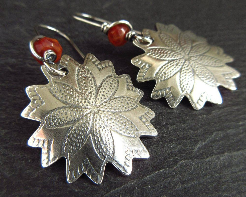 handmade sterling silver earrings cinnamon jewellery