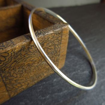Slim Sterling Silver Bangle for Women