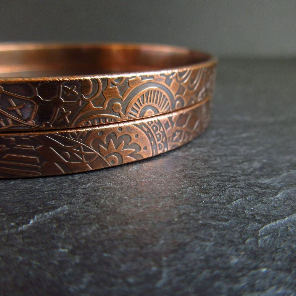 <!--05--> Copper Bangles