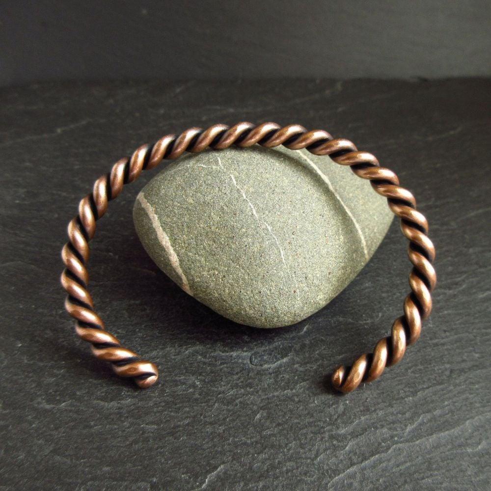 Twisted Bronze Cuff Bracelet for Women & Men