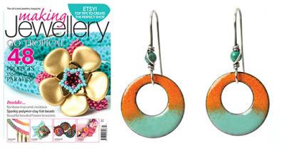 enamel earrings project