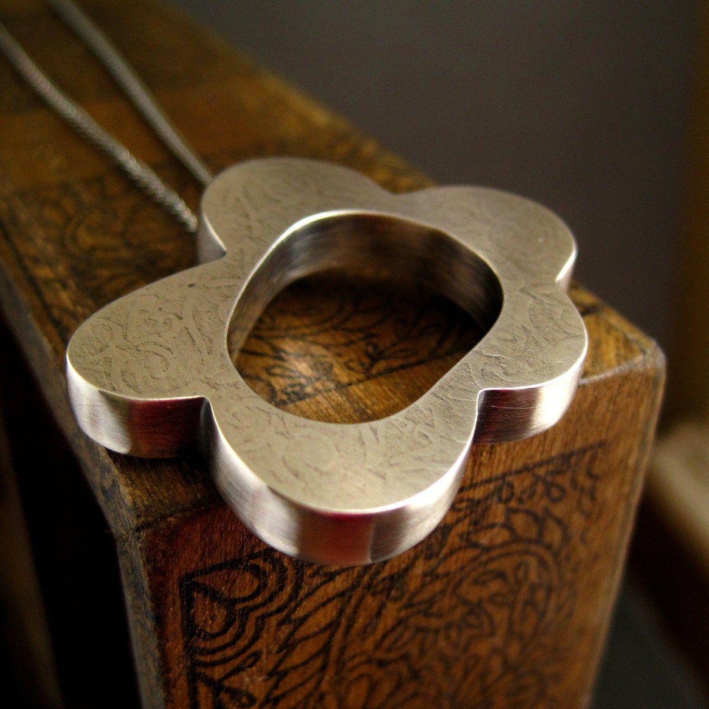 hollow form pendant